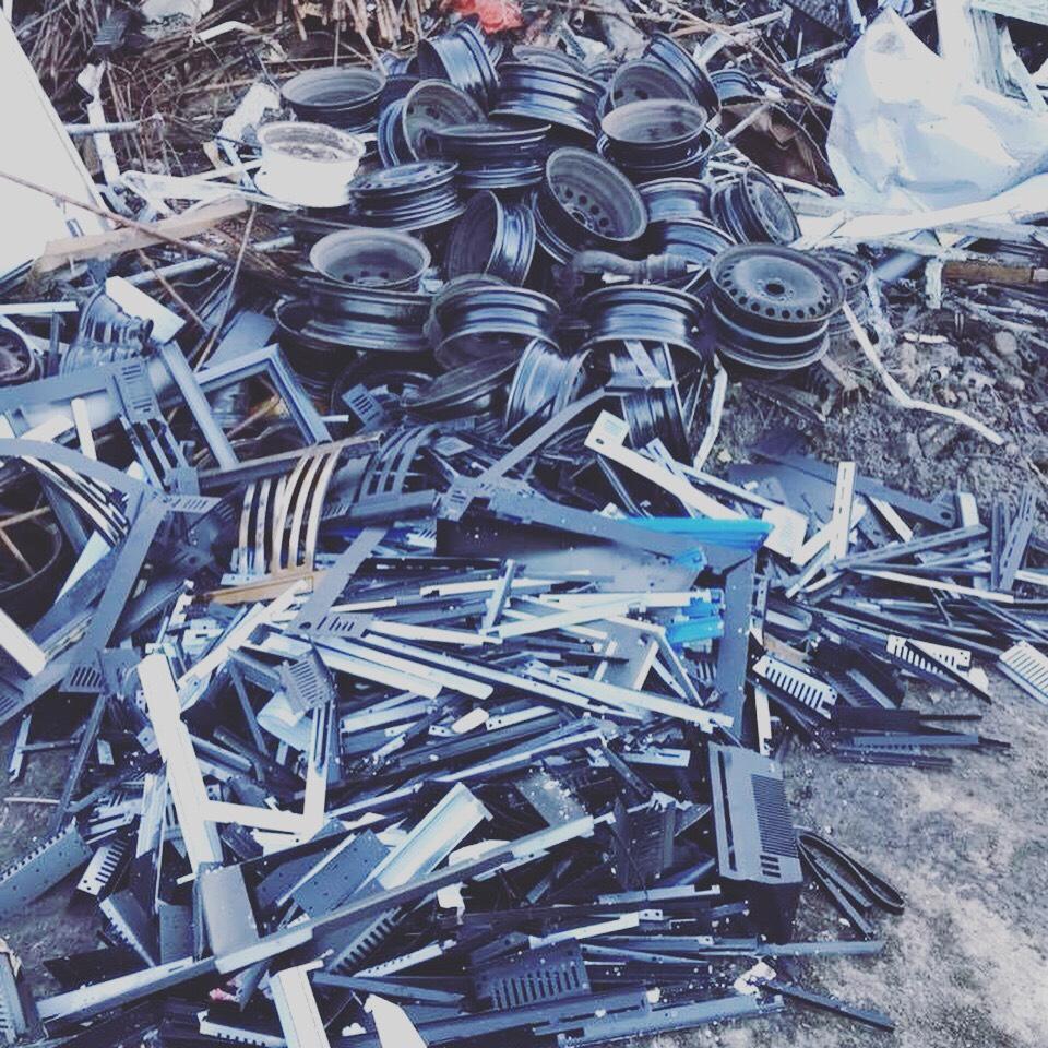Scrap Metal taken away to the yard